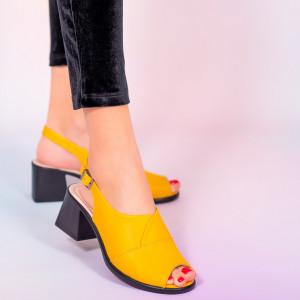 Sandale piele naturala Melo galbene