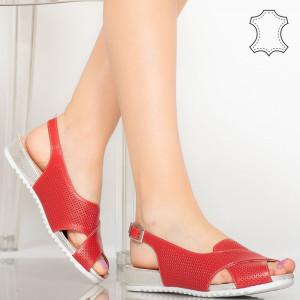 Sandale piele naturala Sion rosii