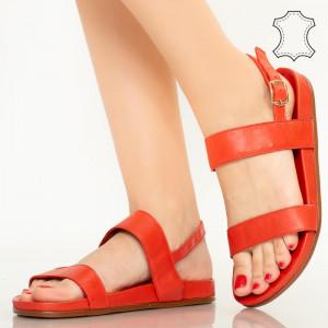 Sandale piele naturala Soa rosii