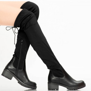 Women's boots are black