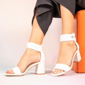 Γυναικεία λευκά σανδάλια