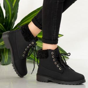 Μαύρες μπότες γούνας Tef