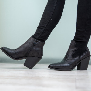 Black Levy women's ankle boots
