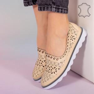 Bon bézs természetes bőr cipő
