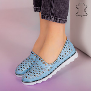 Kék Bix valódi bőr cipő
