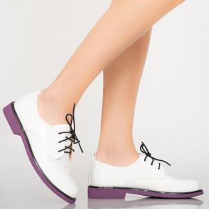 Pantofi casual Erty albi