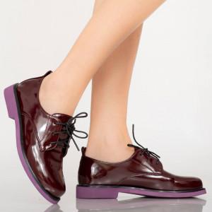 Pantofi casual Erty bordo
