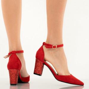Pantofi dama Mantis rosii
