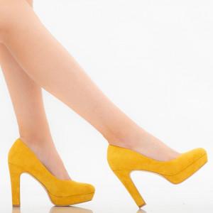 Pantofi dama Shamia galbeni
