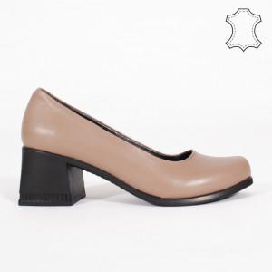 Pantofi Piele Naturala FELY Maro