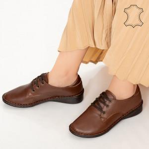 Pantofi piele naturala Ini maro