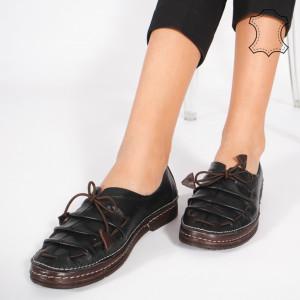 Pantofi Piele Naturala NICA Negri