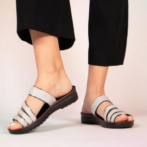 Papuci dama Pans gri