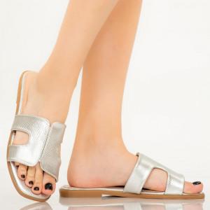 Papuci dama Salit argintii