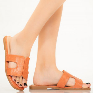 Papuci dama Salit portocalii