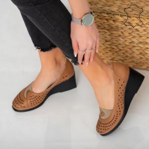 Platforme piele naturala Nafo maro