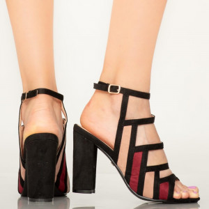 Sandale dama Asma bordo