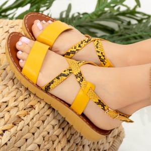 Sandale dama Cofa galbene