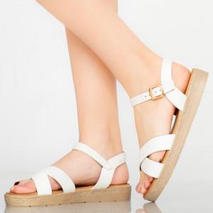 Sandale dama Ones albe
