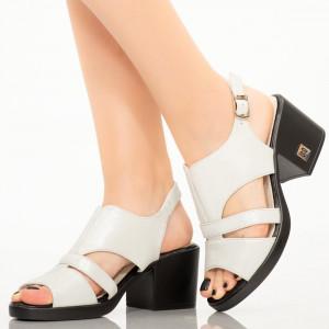 Sandale dama Peg albe