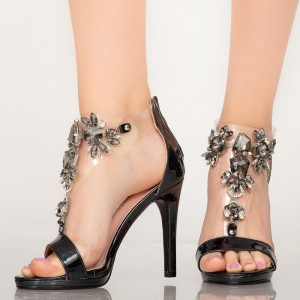 Sandale dama Quen negre