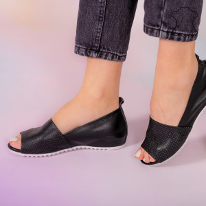 Sandale piele naturala Bet negre