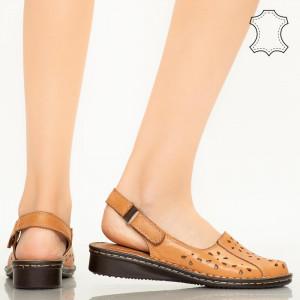 Sandale piele naturala Cest maro