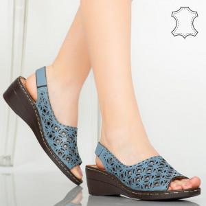 Sandale piele naturala Range albastre