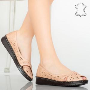 Sandale piele naturala Suby roz