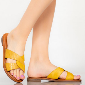 Sárga Saga női papucs