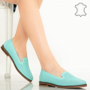 Velha türkiz természetes bőr cipő