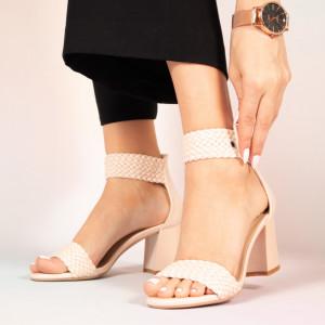 Пето бежови дамски сандали