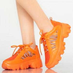Adidasi dama Rido portocalii