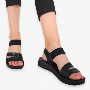 Art black lady sandals