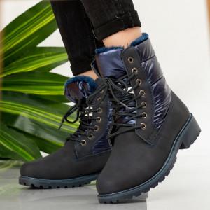 Blue gods fur boots