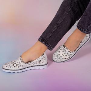Bon fehér természetes bőr cipő