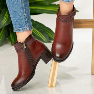 Botine imblanite Teo bordo