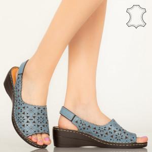 Kék Crato valódi bőr cipő