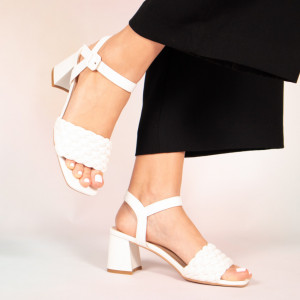 Lady's white sandals