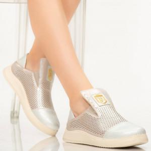 Pantofi dama Tay argintii