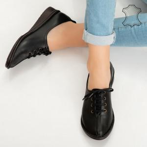 Pantofi piele naturala Daba negri