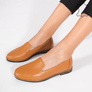 Pantofi Piele Naturala DUM Camel
