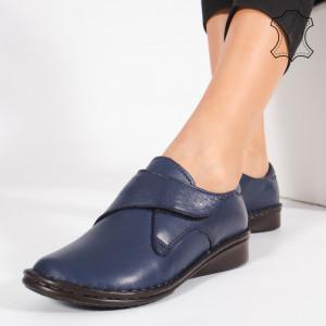Pantofi Piele Naturala KAS Albastri