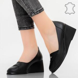 Pantofi piele naturala Zak negri
