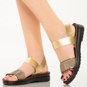 Sandale dama Azora aurii