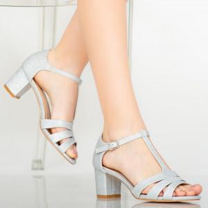 Sandale dama Elto argintii