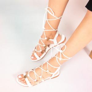 Sandale dama Jed albe