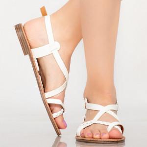 Sandale dama Lex albe