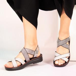Sandale dama Paki gri