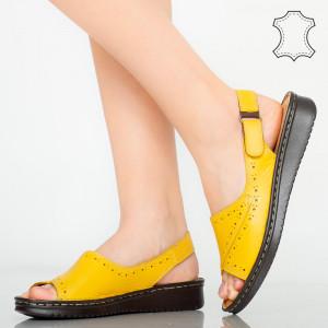 Sandale piele naturala Algo galbene